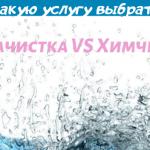 Аквачистка VS Химчистка  — в чем отличия?